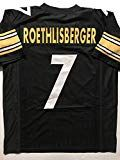 6ff343fec28 #7: Unsigned Ben Roethlisberger Black Custom Stitched Football Jersey Size  Men's XL New No Brands/Logos