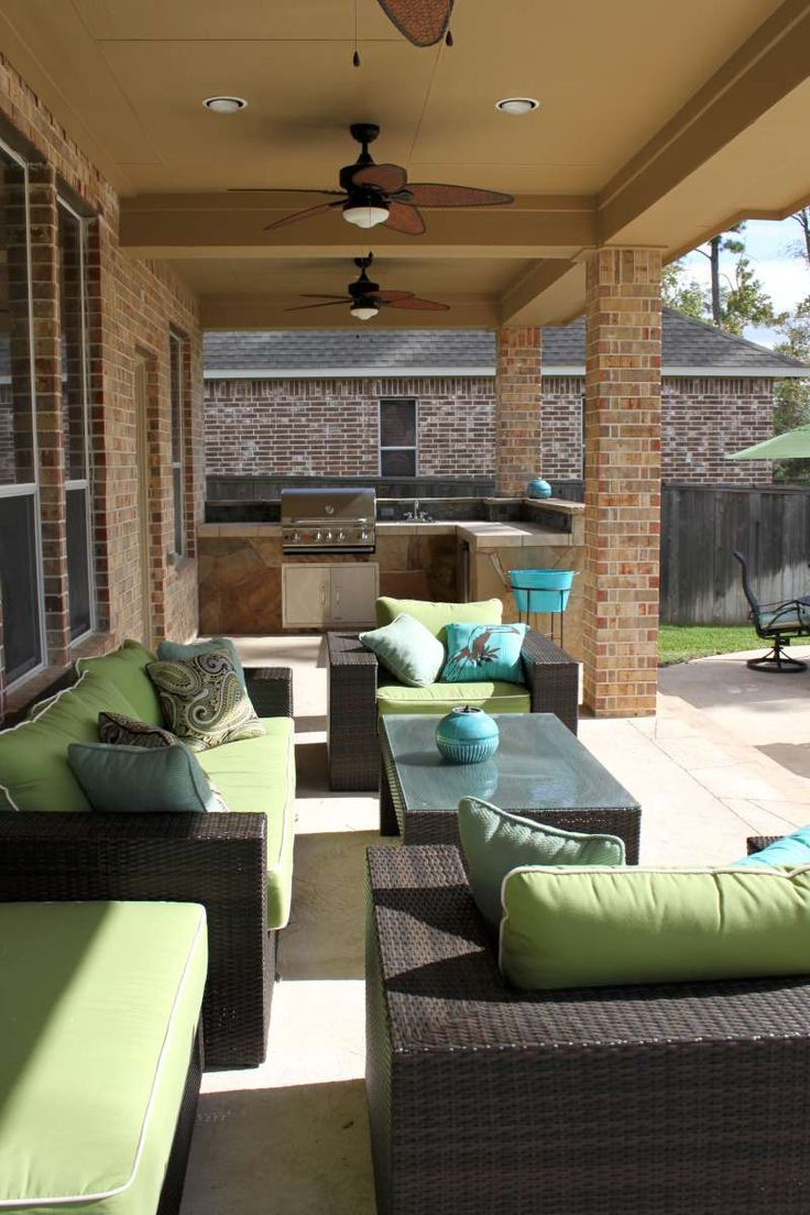 Outdoor Living | Outdoor Living | Fireplace Patio Kitchen Design | The  Woodlands .