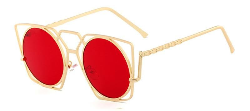 544f66fe81b0 SHAUNA Fashion Hollow Out Metal Frame Women Cat Eye Sunglasses Retro Ladies  Candy Color Tinted Lens Glasses