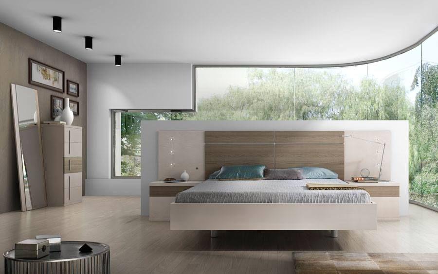dormitorio #matrimonio #combinado #BLANCO #NOGAL | DORMITORIOS ...