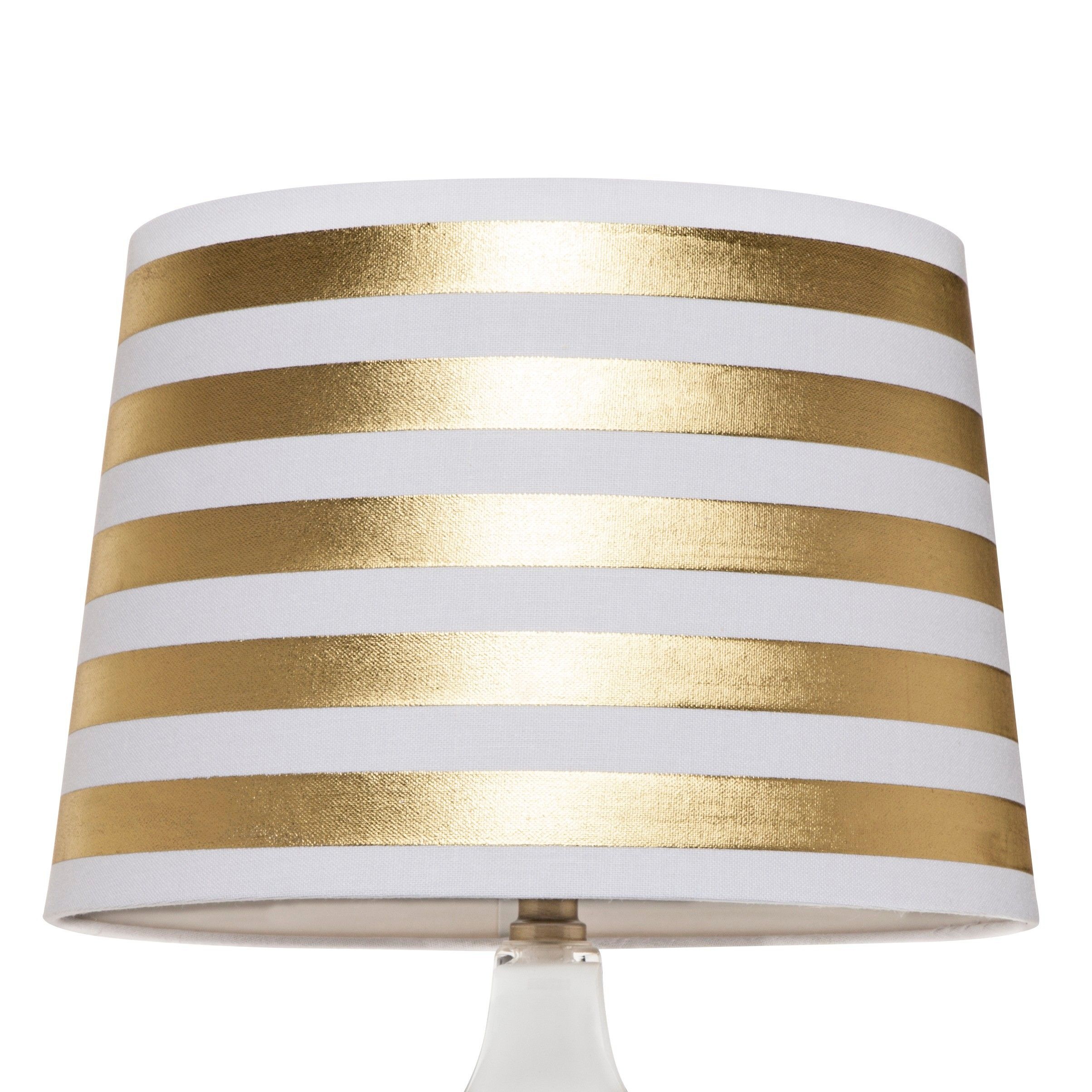Threshold gold stripe lamp shade large target hightower threshold gold stripe lamp shade large target aloadofball Image collections