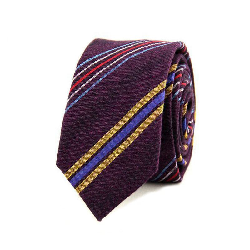 1cfd9aee2d7b Find More Ties & Handkerchiefs Information about 2016 New Fashion Men  Cotton Ties for Wedding Striped Neck Ties Narrow Necktie Gravata for Men  Classic ...