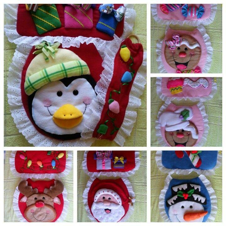 Juegos De Bao De FieltroJuego De Bano Navidad  bao  Pinterest