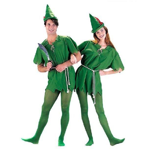 Peter Pan Green Elf Fairy Tale Robin Hood Fancy Dress Up Halloween Child Costume