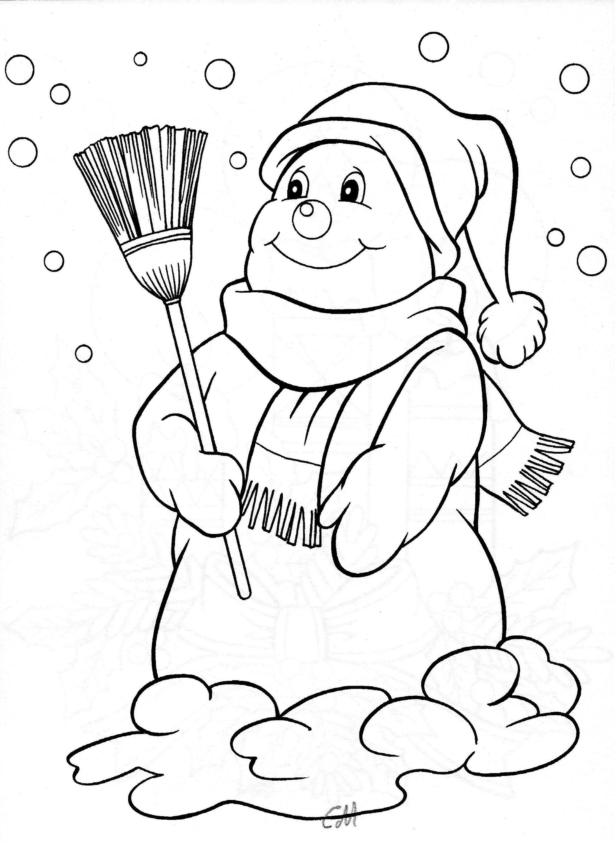 Snowman Kerst Inkleuren Schneemann Malvorlagen En Vorlagen