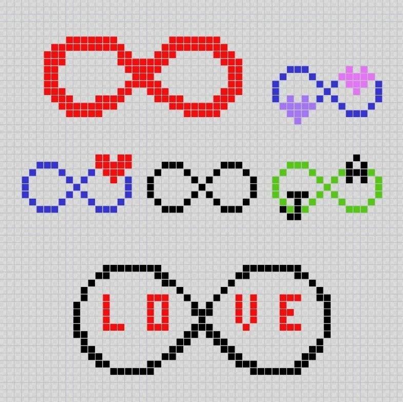 Simbolo De Infinito Infinity Symbol Pixel Art Patterns