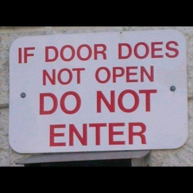 """""""Si la puerta no abre, no entre"""" ¡NO ME DIGAS!"""