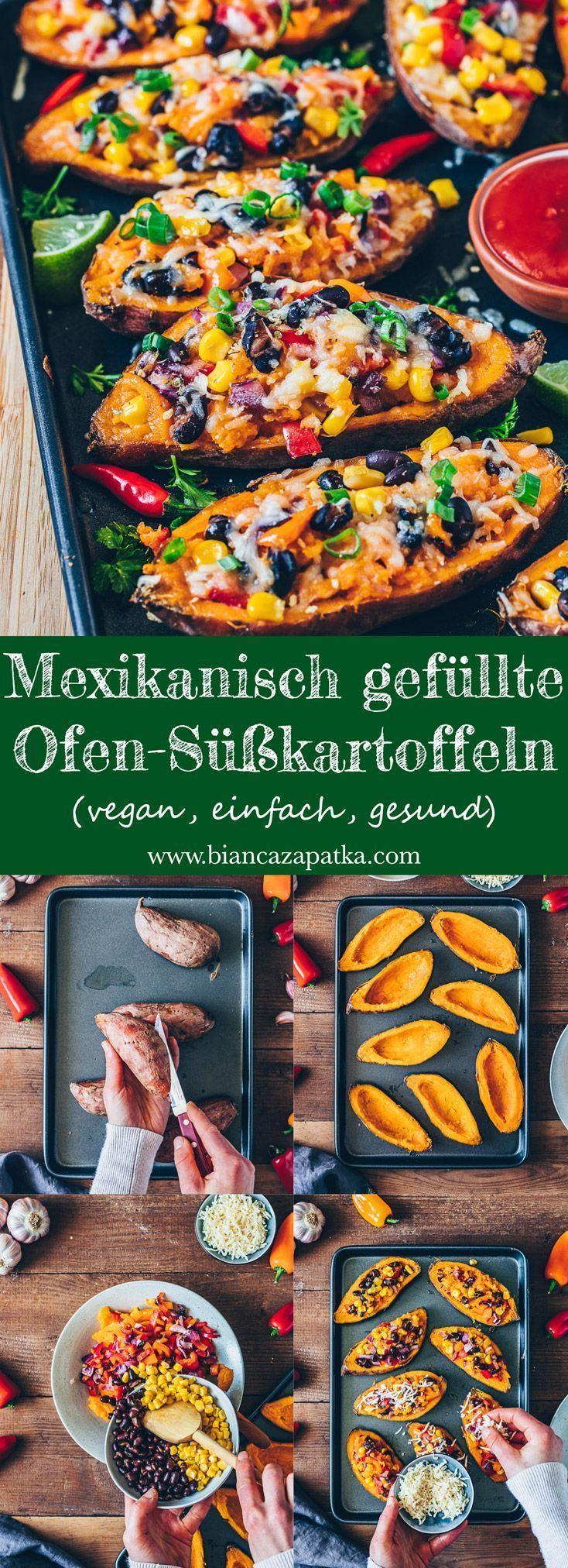 Mexikanisch gefüllte Süßkartoffeln - Vegan - Bianca Zapatka | Rezepte