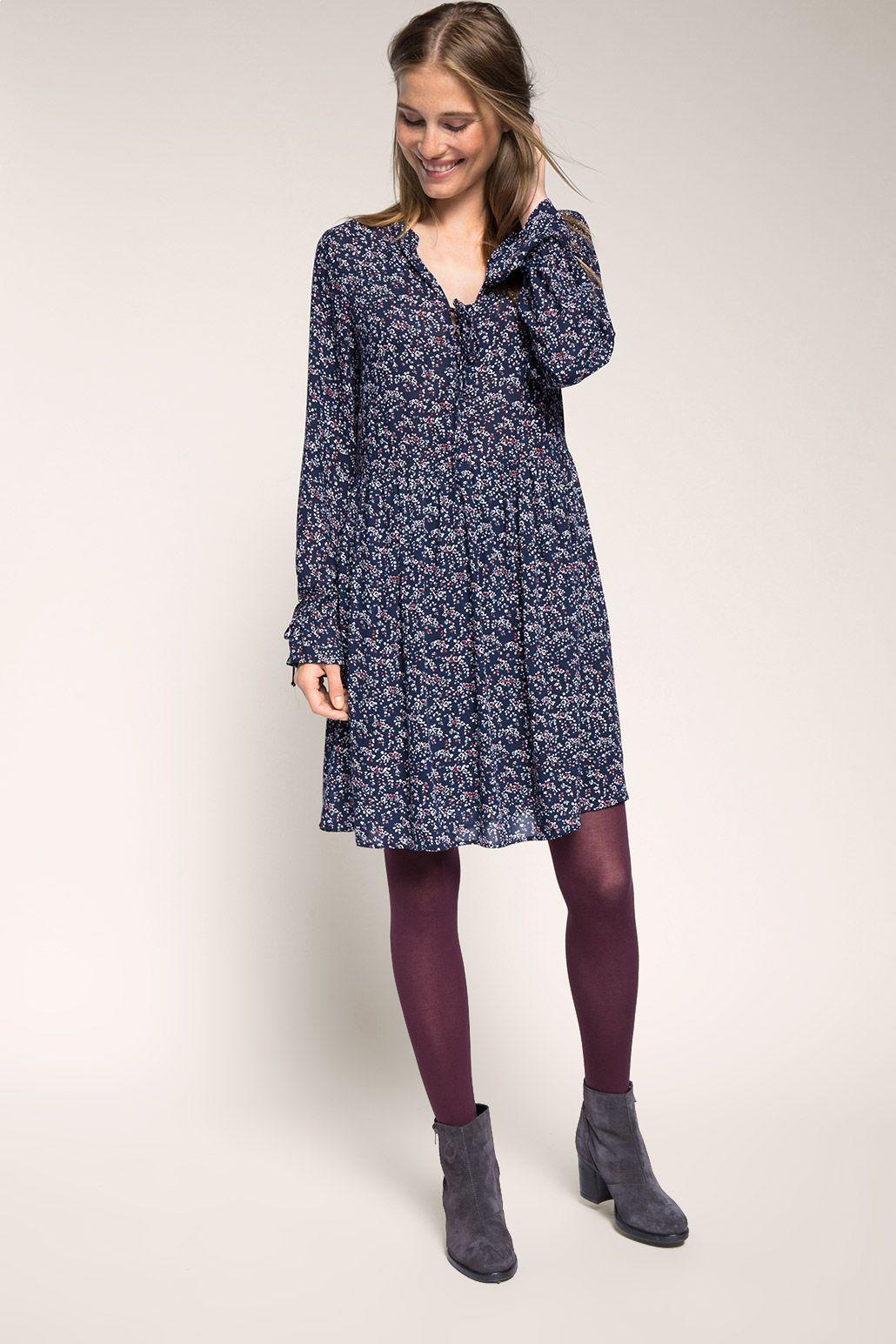 Hängerchen-Kleid mit Schnürung  Kleider damen, Damenkleider, Kleider