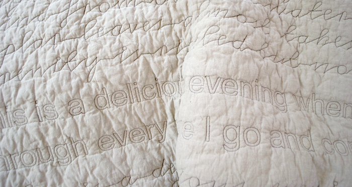 The Walden Quilt Series – Sleep Under the Words of Thoreau. by Kerry Larkin — Kickstarter
