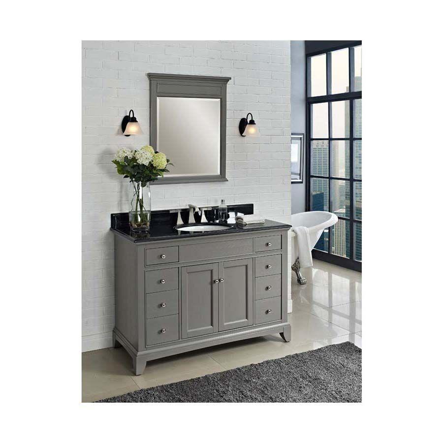 Grey Bathroom Vanity Looks Great In Proper Bath Interior Design Images