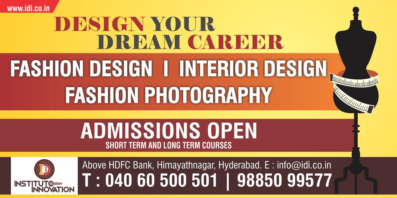 Design Your Dream Career In Fashion Designing At Instituto Design Innovation Fashion Designing Institute Fashion Designing Course Career In Fashion Designing
