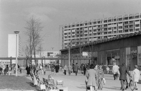 Kaufhalle, Halle-Neustadt, April 1973