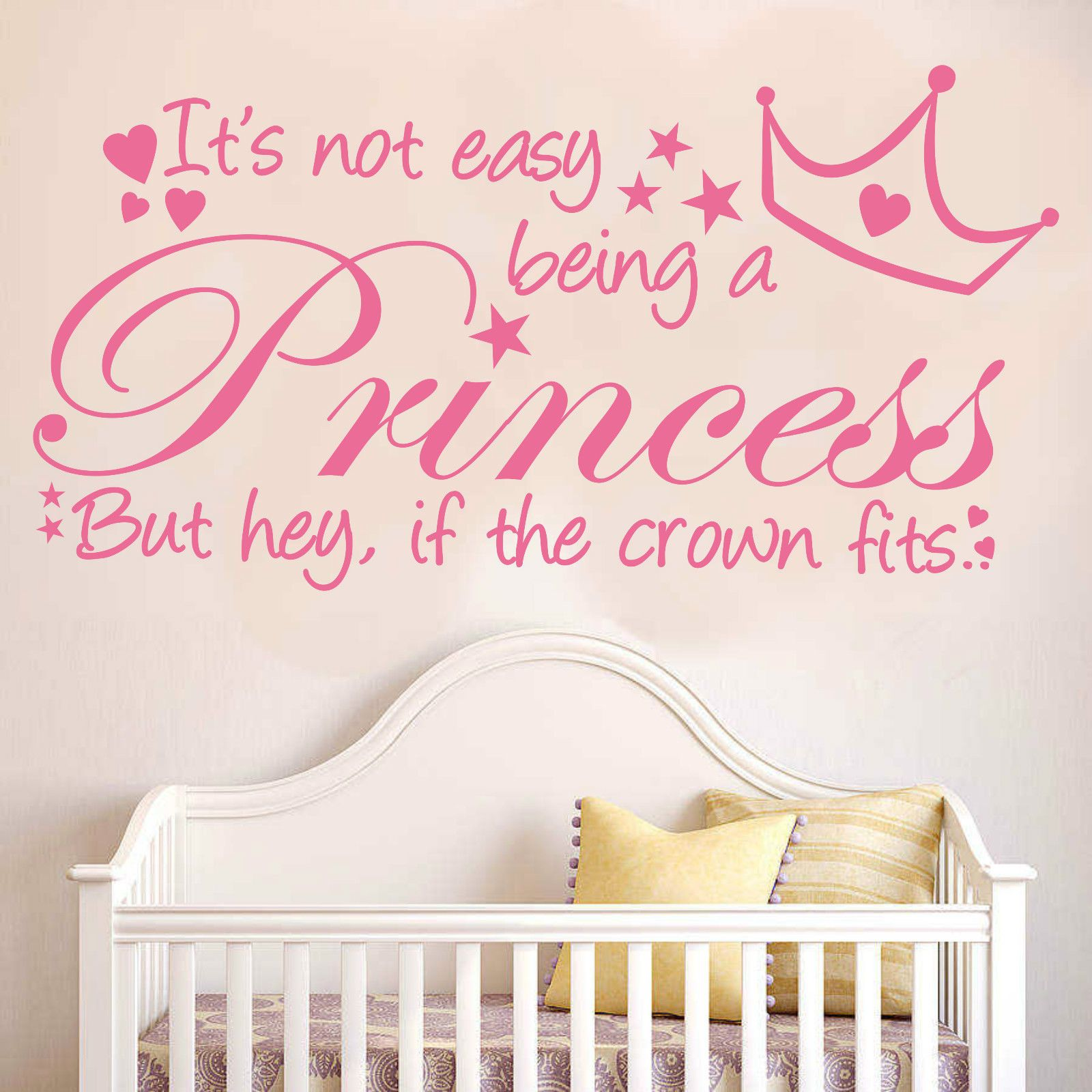 Its Not Easy Being A Princess Wall Quote Decal Sticker