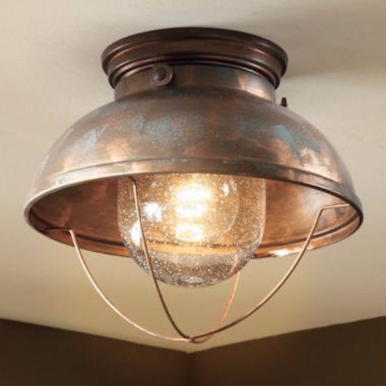 rustic ceiling light flush mount cabin