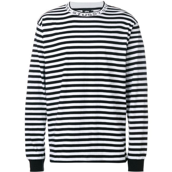 4fd8b4eb1b1 Stussy striped top (340 BRL) ❤ liked on Polyvore featuring men's fashion,  men's