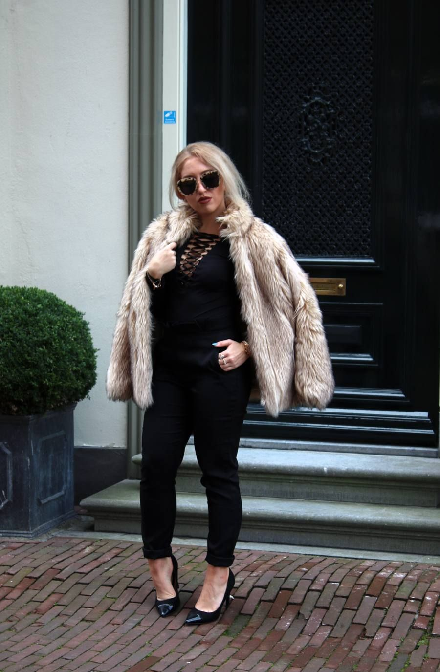OUTFIT OF THE DAY   Faux Fur Coat Lily Like   Fur coat