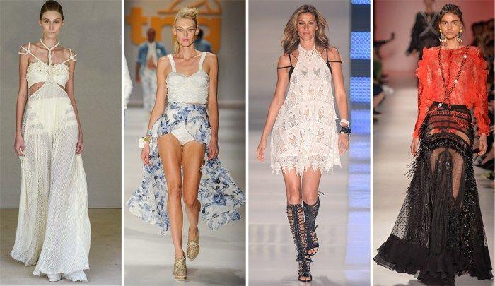 Hot pants com saia transparente: essa é a grande tendência do SPFW verão 2015!