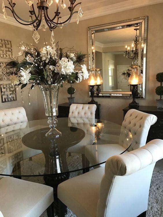 Contemporary Dining Room Ideas To Inspire You Www Bocadolobo Com Www Moderndiningtables Net Glass Dining Room Wall Decor Dinning Room Decor House Interior