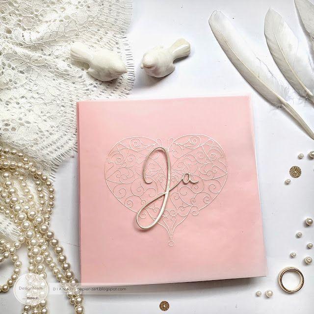 papierZART: Hochzeitskarte, Ja, Cardmaking, Papercraftideas, papercrafting, DIY, Alexandra Renke
