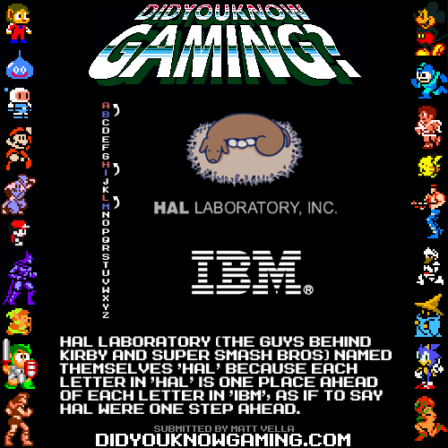 Hal Laboratory Video Game Facts Gaming Facts Video Games Funny
