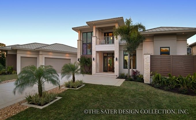 ePlans Contemporary-Modern House Plan \u2013 A Private Resort-Like Home