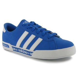 blue adidas trainers