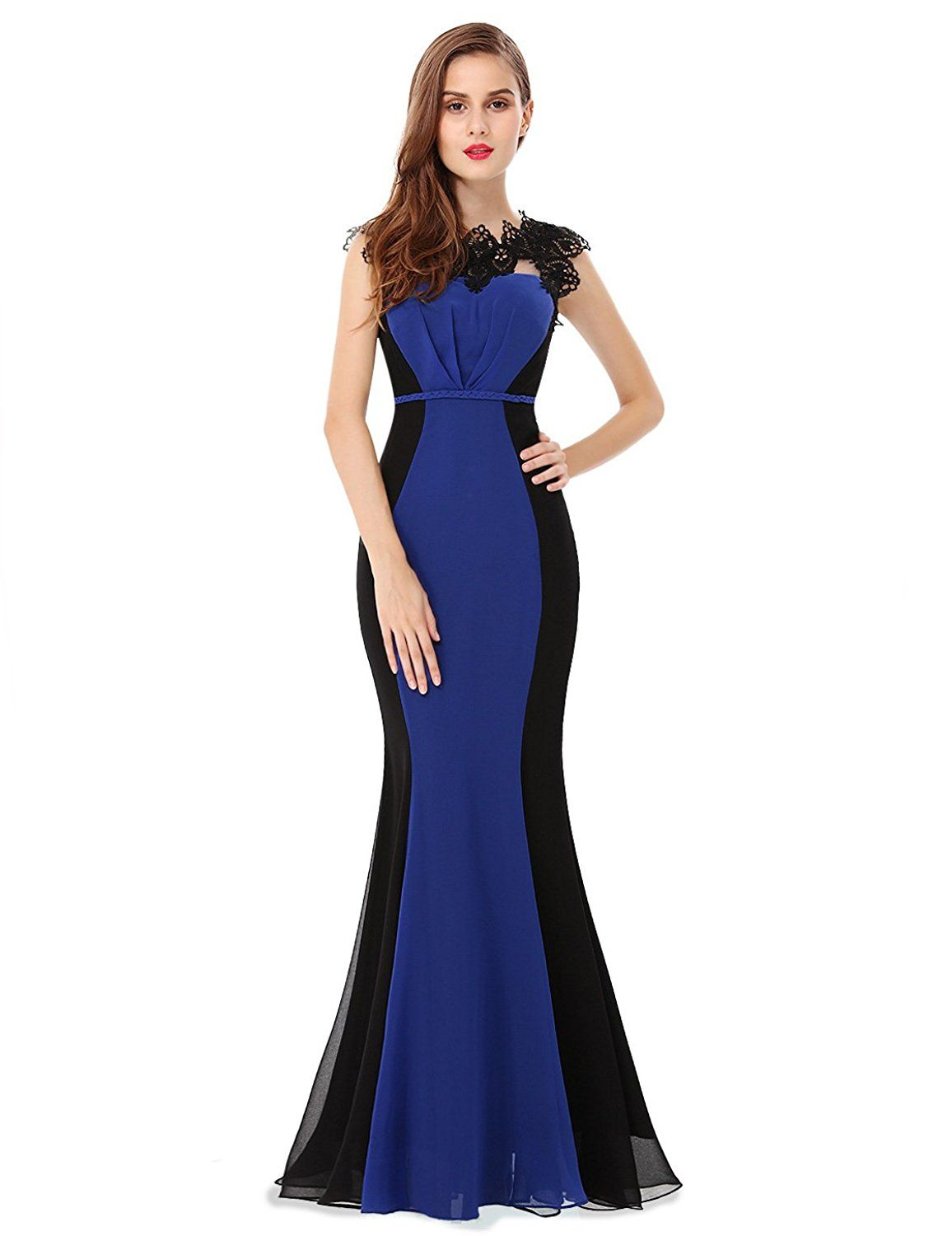 Ever pretty elegant lacey fitted mermaid evening gown be
