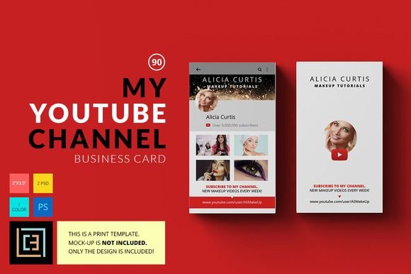 My Youtube Channel Business Card 90 by Cooledition on Creative - visiting cards