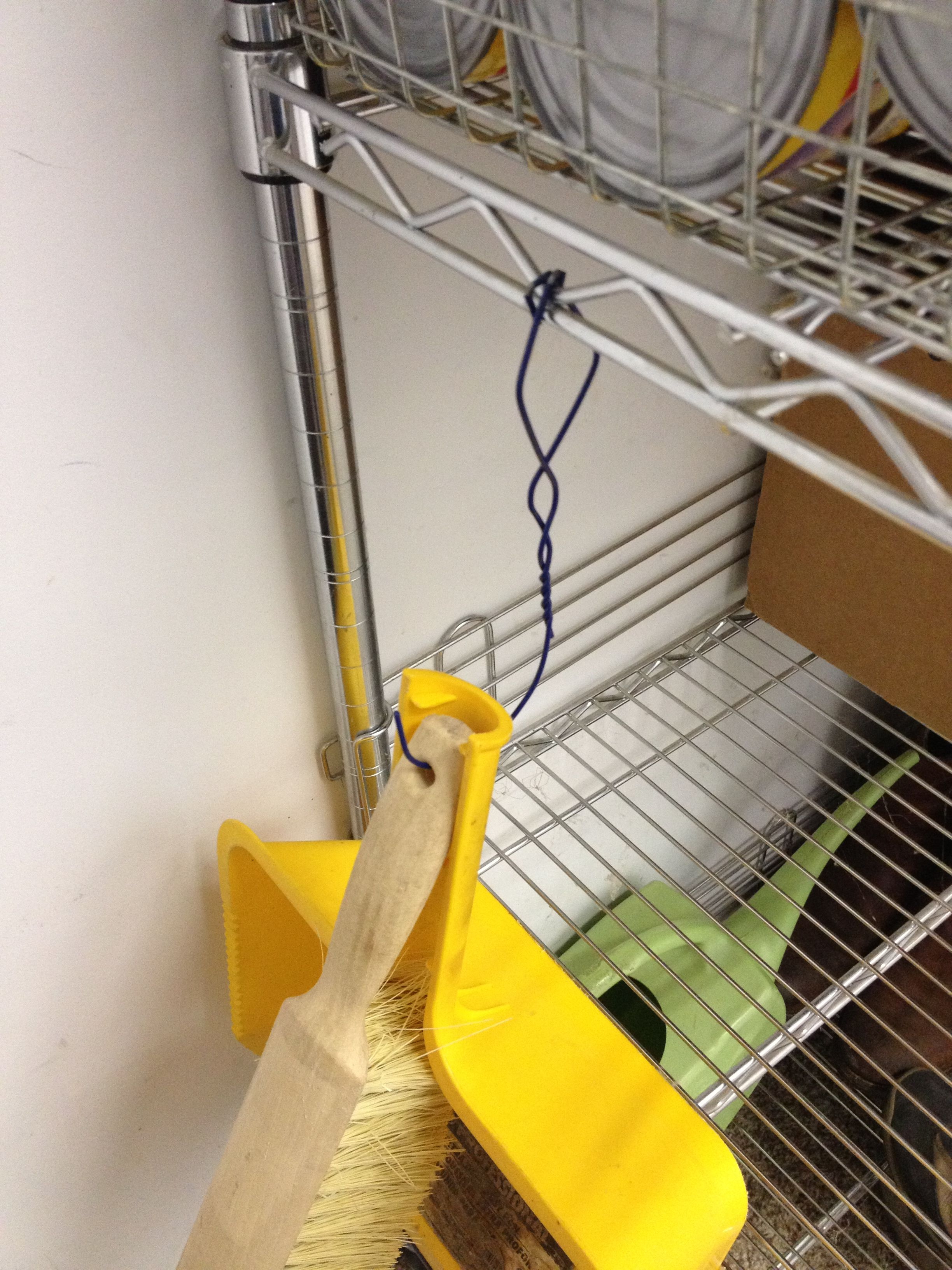 Wire hanger up-cycled as a shelf hook. | Wire hanger projects ...