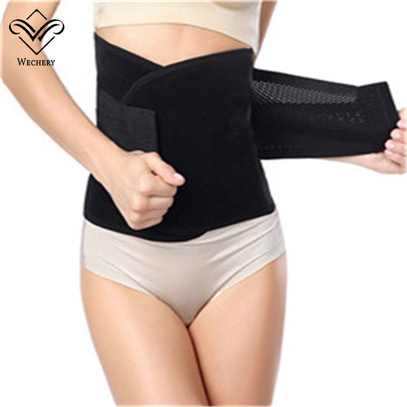 Waist Trainer Body Belt Women Postpartum Strap Workout Shapewear Tummy Trimmer,Blue,L