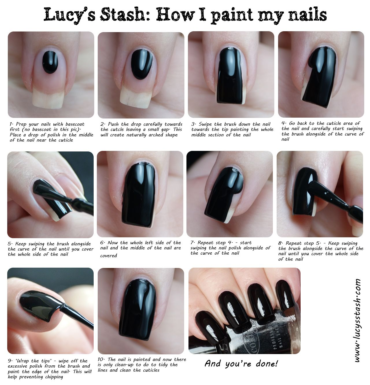 Nail Art Simple Step By Step: Lucy's Stash: How I Paint My Nails Tutorial Http://www