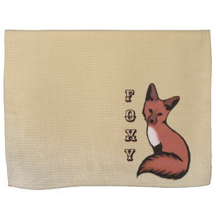 Beautiful Red Foxy Fox Kitchen Towel - kitchen gifts diy ideas decor special unique individual customized