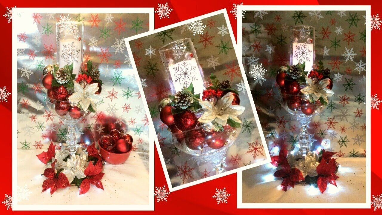 DIY Dollar Tree Glow in The Dark Red and Silver Winter ...