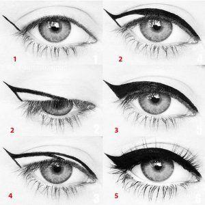 Wie man den perfekten eyeliner?  PERFEKTEN LIDSTRICH   Teknobest