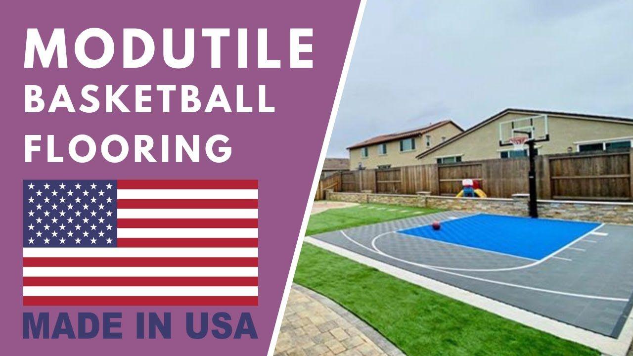 ModuTile Backyard Basketball Court Tiles in 2020 ...