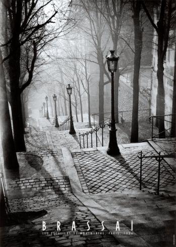 Les Escaliers de Montmartre, Paris Print by Brassaï at Art.com 21AUG13 Full Moon Winner