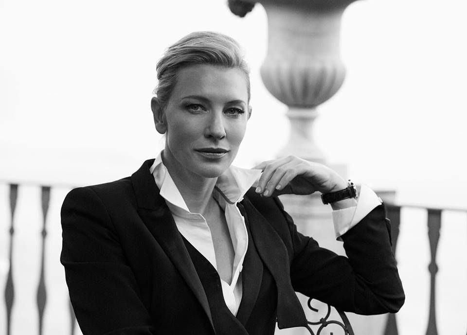 Cate Blanchett photographed by Peter Lindbergh for IWC Schaffhausen - A Sparkle to the Wrist - Portofino Midsize Collection, 2014. ♥♥♥
