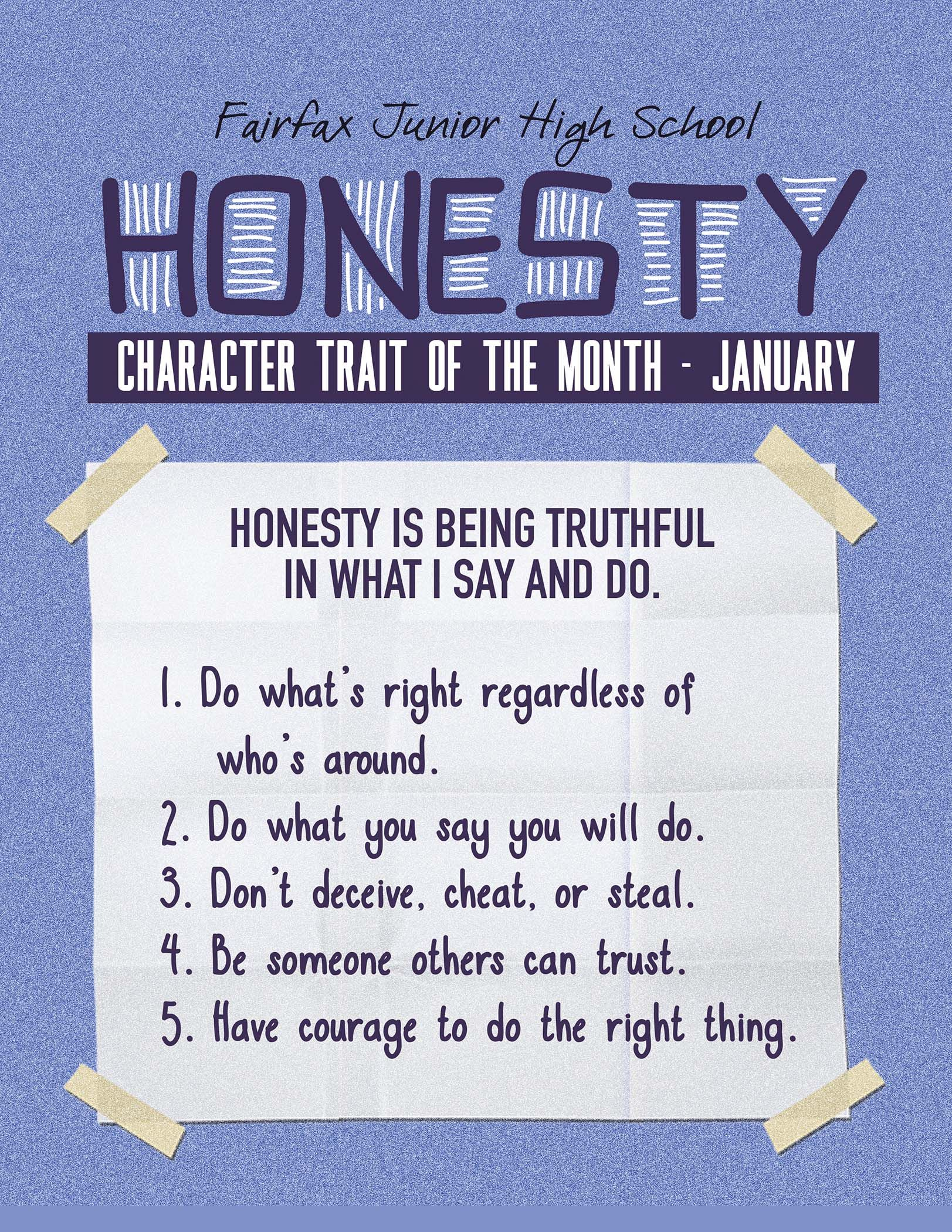 Character Trait Of The Month Honesty