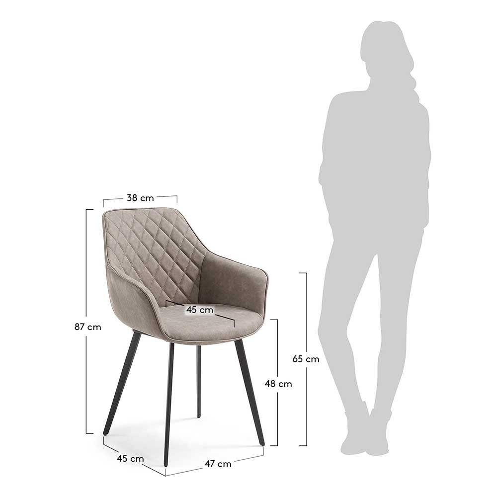 Esstischsessel Jueves In Taupe Kunstleder Armlehnstuhl Sessel Günstig Stühle