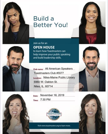 Toastmasters (Public Speaking) Last Annual Open House
