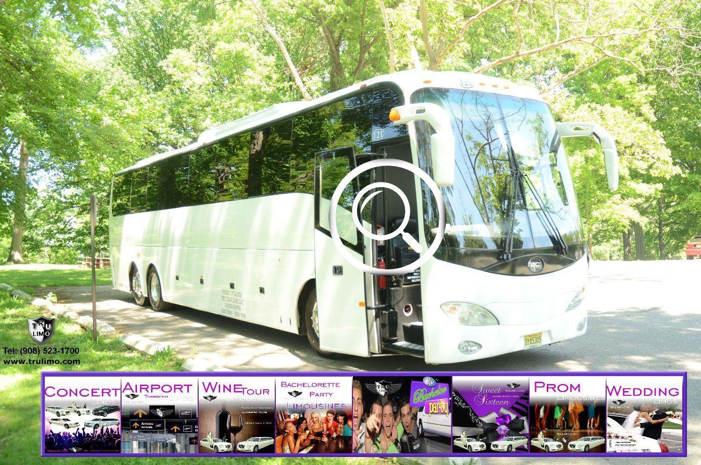 50 passenger nj party bus exterior