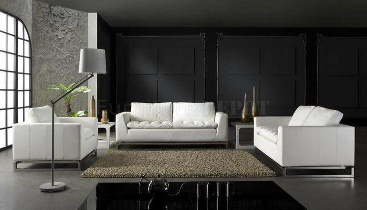 Moderne Leder Wohnzimmer Gesetzt Loungemöbel In 2019