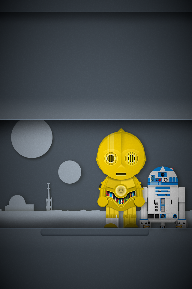 C3po And R2d2 Wallpaper Iphone 5s Wallpaper Cartoon Background