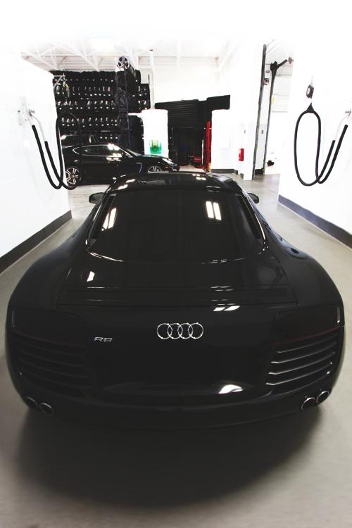 Black Audi R8 christmas baby
