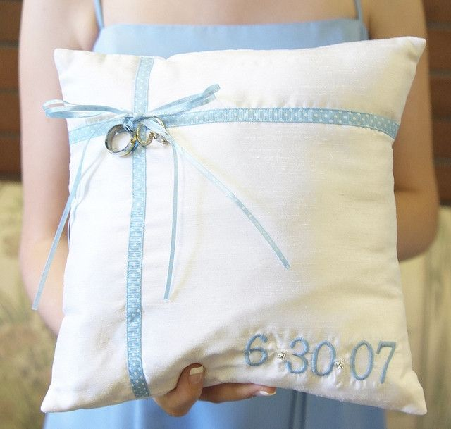 Our DIY ring bearer pillow | Flickr - Photo Sharing!