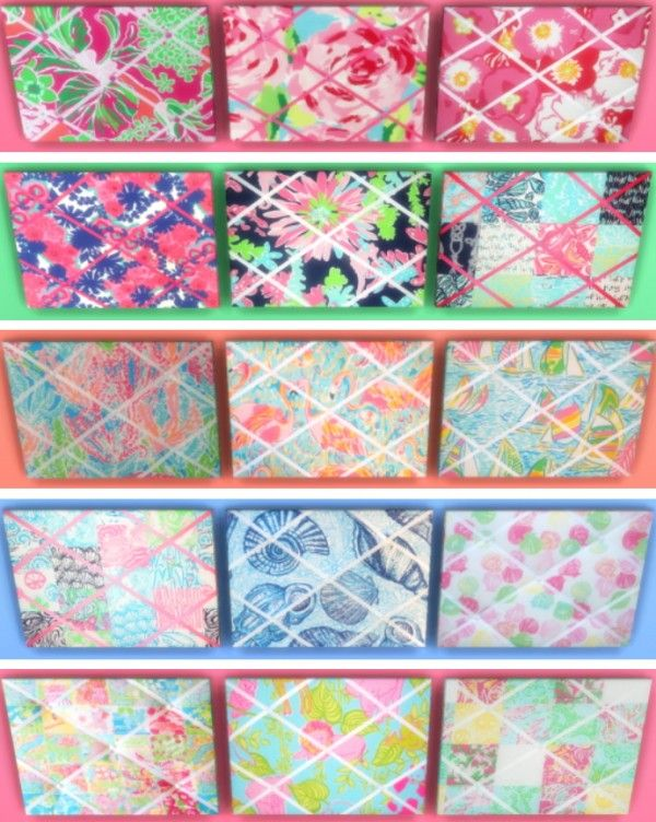 Kinderzimmer Lilly | Sunshine Roses Custom Content Lilly Pulitzer Memo Boards Sims