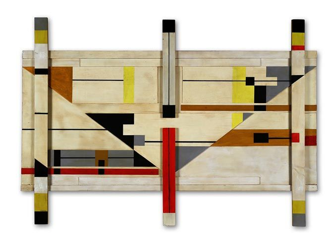 Sandu DARIE (Romanian/Cuban 1908-1991) Untitled, circa 1950's Wood Construction Assemblage Mixed media on wood panel Signed on lower left panel 31 x 44 in. – 78.74 x 111.76 cm. This work is accompanied by a certificate of au- thenticity issued by Roberto Cobas Amate