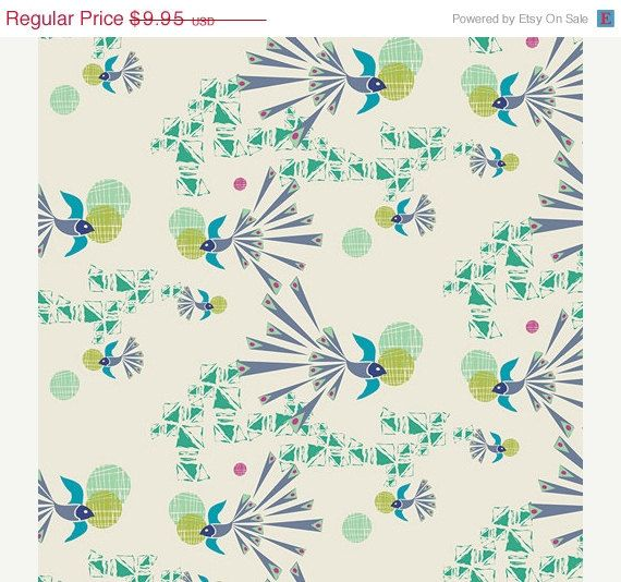 On Sale - Soaring Free Cloudy - SAFARI MOON (SFR-7704) - Frances Newcombe for Art Gallery Fabrics - 1 yard