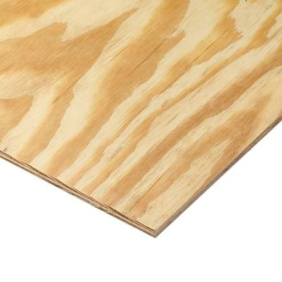 11 32 In X 4 Ft X 8 Ft Rtd Southern Yellow Pine Plywood Sheathing 112590 With Images Pine Plywood Plywood Home Depot
